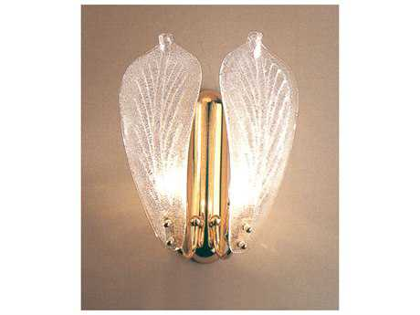Classic Lighting Corporation Murano Glass French Gold Two-Light Wall Sconce