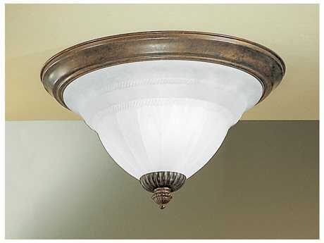 Classic Lighting Corporation Yorkshire English Bronze Two-Light Semi-Flush Mount Ceiling Light