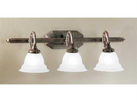 Classic Lighting Corporation Yorkshire English Bronze Three-Light 28'' Wide Vanity Light C868113EBSSG