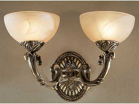 Classic Lighting Corporation Montego Bay Roman Bronze Two-Light Wall Sconce