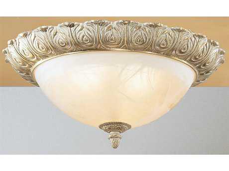 Classic Lighting Corporation Montego Bay Roman Bronze Three-Light Flush Mount Light