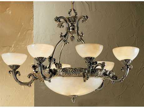 Classic Lighting Corporation Montego Bay Roman Bronze Nine-Light 35 Wide Chandelier