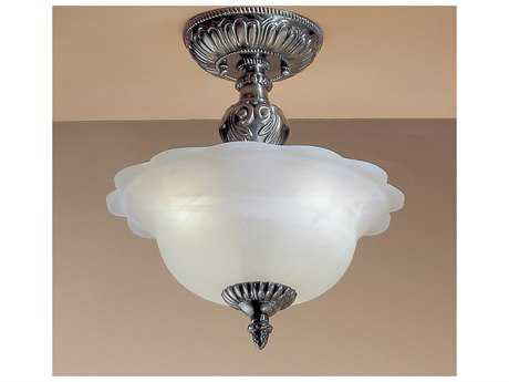 Classic Lighting Corporation Victorian II Three-Light Semi-Flush Mount Light