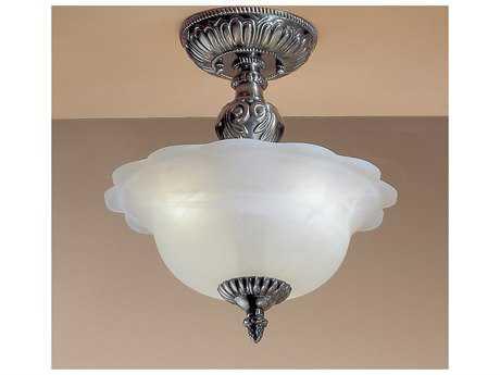 Classic Lighting Corporation Victorian II Three-Light Semi-Flush Mount Light