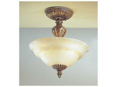 Classic Lighting Corporation Victorian I Three-Light Semi-Flush Mount Light