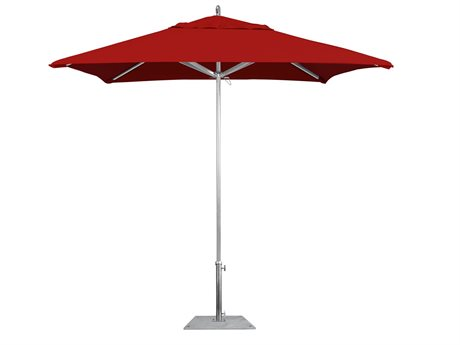 California Umbrella Rodeo Series 7.5 Foot Square Push Up Lift Aluminum Umbrella PatioLiving