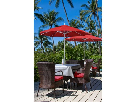 California Umbrella Rodeo Series 7.5 Foot Octagon Market Aluminum Umbrella with Push Lift System PatioLiving