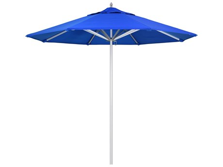 California Umbrella Rodeo Series 9 Foot Octagon Market Aluminum Umbrella with Push Lift System PatioLiving