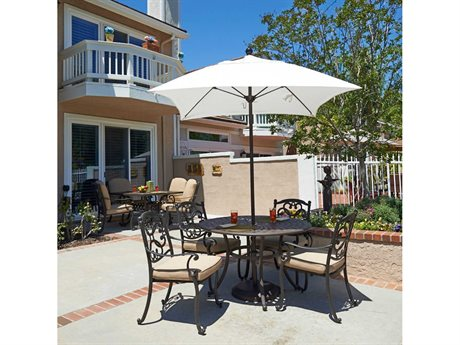 California Umbrella Venture Series 6 Foot Square Market Aluminum Umbrella with Push Lift System
