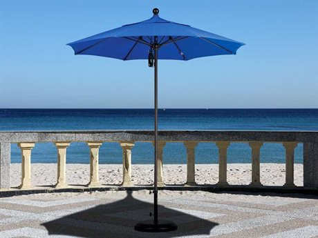 California Umbrella Venture Series 7.5 Foot Octagon Market Aluminum Umbrella with Push Lift System