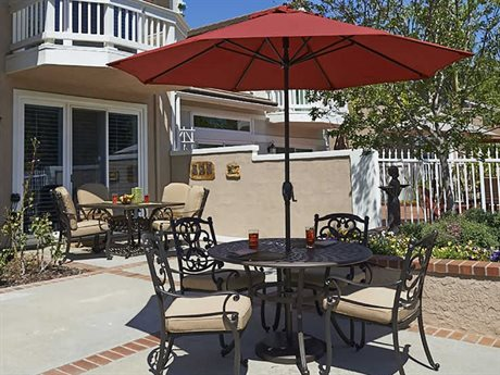 California Umbrella Casa Series 9 Foot Octagon Market Aluminum Umbrella with Crank Lift System PatioLiving