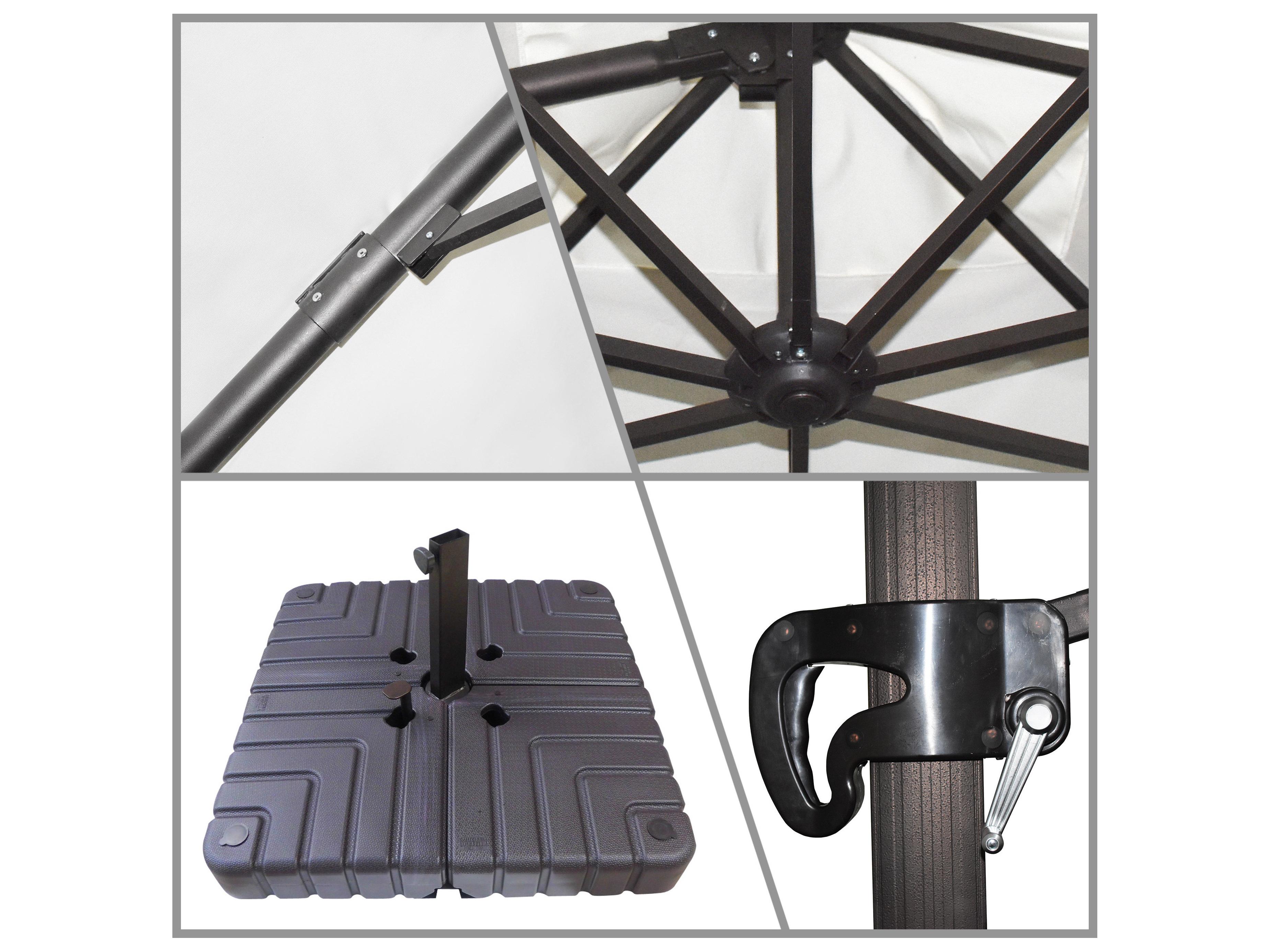 b40fa6781317 California Umbrella Cali Series 11 Foot Octagon Cantilever Aluminum  Umbrella with Crank Lift System