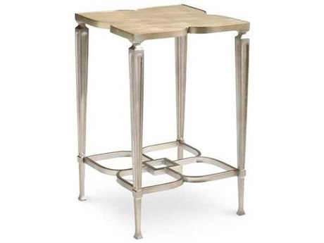 Caracole Classic Taupe Silver Leaf 16'' Wide End Table