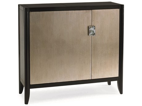 Caracole Classic Tuxedo Black / Pompeii Hall Chest Accent Cabinet