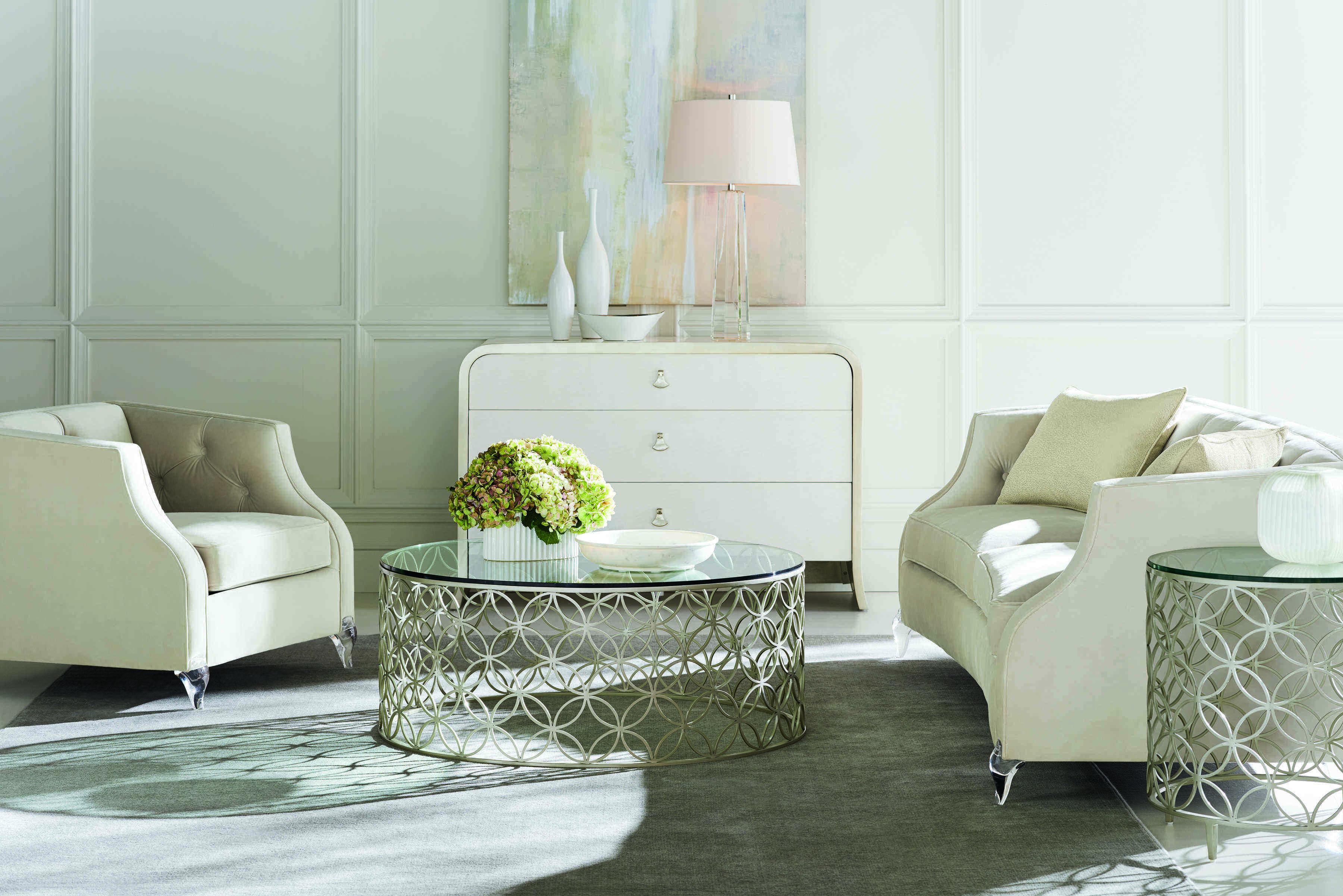 Caracole Classic Cream Tuxedo Sofa