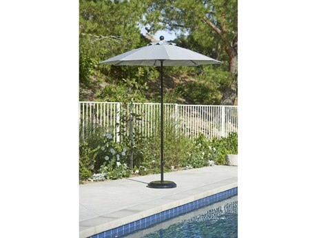 California Umbrella Oceanside Series 7.5 Foot Octagon Market All Fiberglass Umbrella with Pulley Lift System