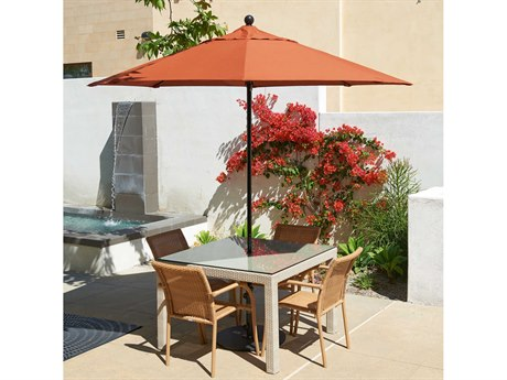 California Umbrella Oceanside Series 9 Foot Octagon Market All Fiberglass Umbrella with Push Lift System CAEFFO908