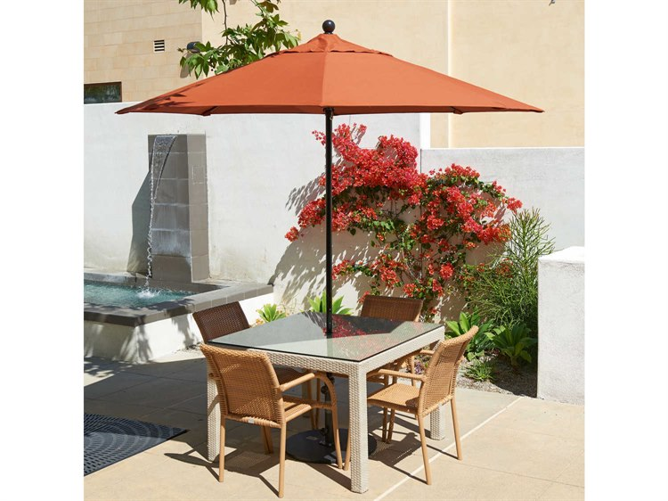 California Umbrella Oceanside Series 9 Foot Octagon Market All Fiberglass Umbrella with Push Lift System PatioLiving