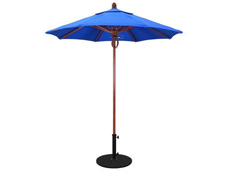 California Umbrella Sierra Series 7.5 Octagon Market Wood Umbrella with Push Lift System