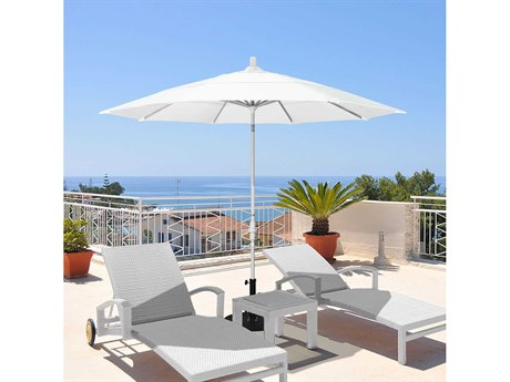 California Umbrella Golden State Series 11 Foot Octagon Market Aluminum Umbrella with Crank Lift System PatioLiving