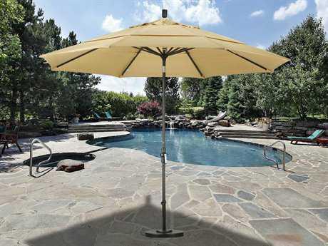 California Umbrella 11 Foot Round Aluminum Double Wind Vent Patio Umbrella