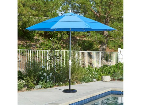 California Umbrella Sun Master Series 11 Foot Octagon Market Aluminum Umbrella with Crank Lift System