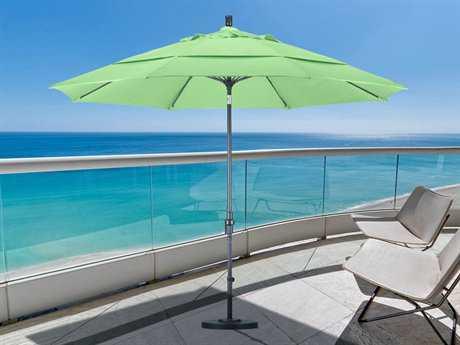 California Umbrella 11 Foot Round Aluminum Patio Umbrella with Crank Lift System