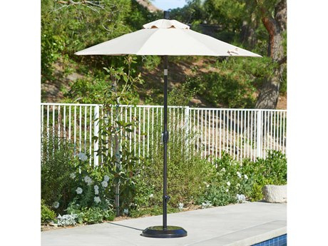 California Umbrella Sun Master Series 7.5 Foot Octagon Market Aluminum Umbrella with Crank Lift System PatioLiving