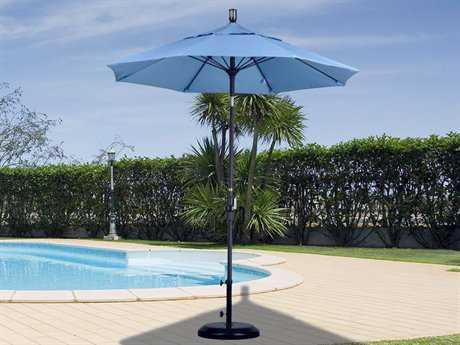 California Umbrella 7 Foot Round Aluminum Collar Tilt Patio Umbrella