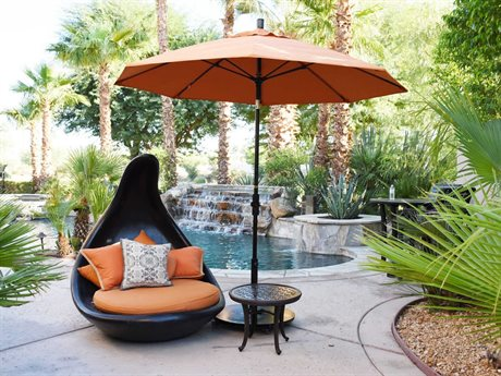 California Umbrella Sun Master Series 9 Foot Octagon Market Aluminum Umbrella with Crank Lift System PatioLiving