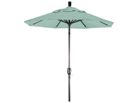 California Umbrella Pacific Trail Series 6 Foot Octagon Market Aluminum Umbrella with Crank Lift System