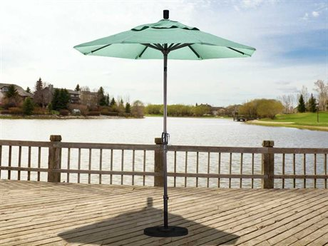 California Umbrella Pacific Trail Series 7.5 Foot Octagon Market Aluminum Umbrella with Crank Lift System