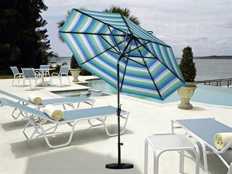 California Umbrella 9 Foot Round Aluminum Patio Umbrella with Push Button Tilt