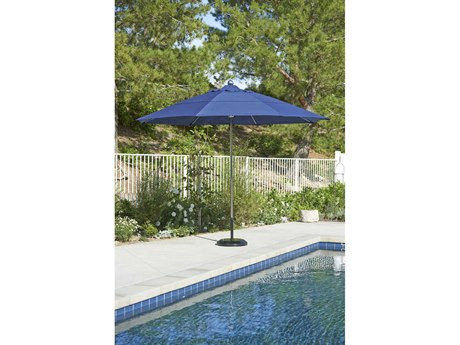 California Umbrella Allure Series 11 Foot Octagon Market Steel Umbrella with Pulley Lift System