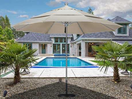 California Umbrella 11 Foot Round Stainless Steel Patio Umbrella