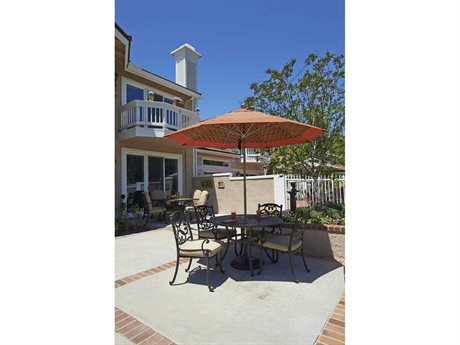 California Umbrella Allure Series 9 Foot Octagon Market Steel Umbrella with Pulley Lift System