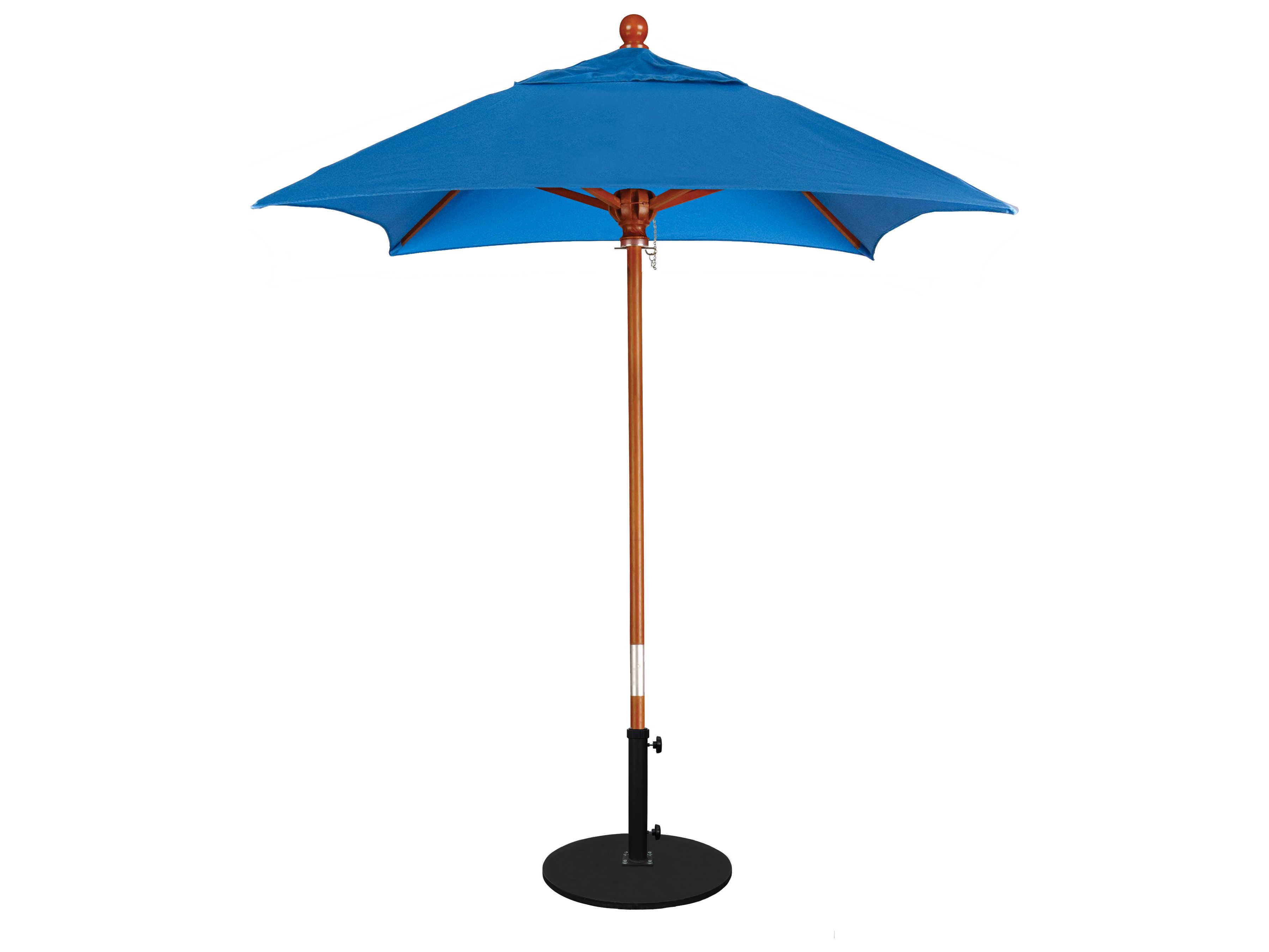 california umbrella grove series 6 foot square market wood umbrella with push lift system mare604. Black Bedroom Furniture Sets. Home Design Ideas