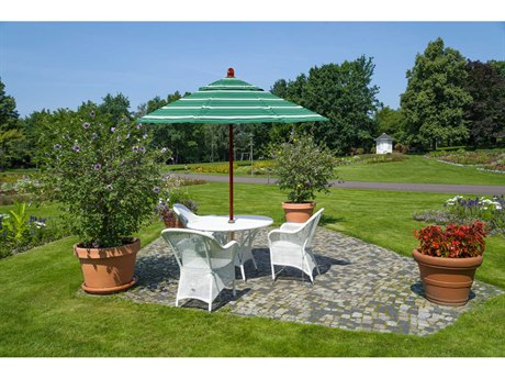 California Umbrella Grove Series 9 Foot Octagon Market Wood Umbrella with Push Lift System