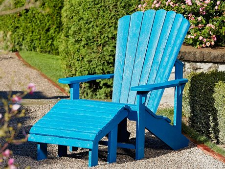 Captiva Casual Recycled Plastic Adirondack and Ottoman Set