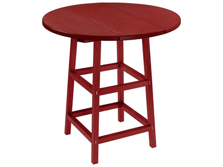 Captiva Casual Recycled Plastic 32 Round Bar Table PatioLiving