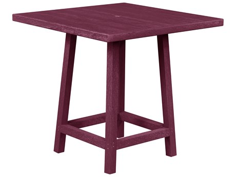 Captiva Casual Recycled Plastic 40 Square Bar Height Table CAPKITTTX13TBX23