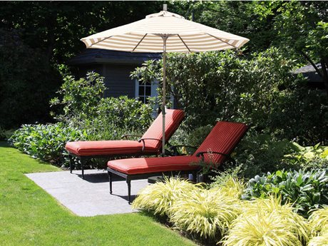 California Umbrella Sunset Series 9 Foot Octagon Market Aluminum Umbrella with Crank Lift System PatioLiving