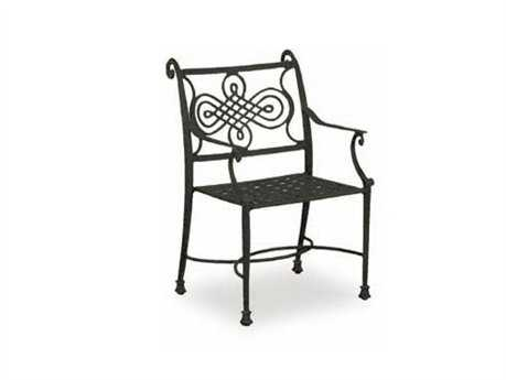 Cast Classics Monte Cristo Cast Aluminum Cushion Dining Arm Chair with Seat Cushion CC118010C