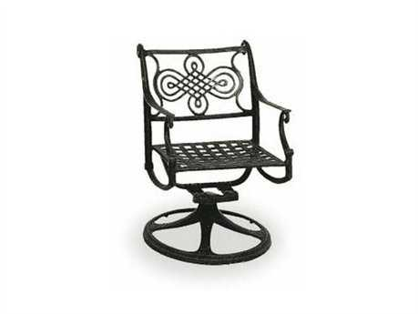Cast Classics Monte Cristo Cast Aluminum Dining Swivel Rocker with Seat Cushion CC118013C