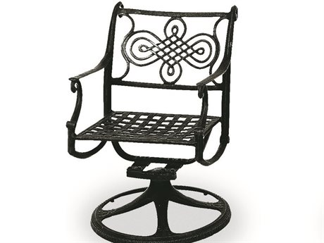 Cast Classics Monte Cristo Cast Aluminum Dining Chair Swivel Rocker