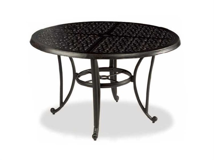 Exceptional Cast Classics Opus Cast Aluminum 31 Round Bistro Table With Umbrella Hole