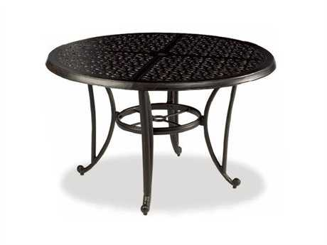 Cast Classics Opus Cast Aluminum 96 x 44 Oval Dining Table with Umbrella Hole