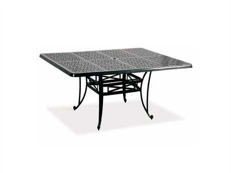 Cast Classics Opus Cast Aluminum 60 Square Dining Table with Umbrella Hole