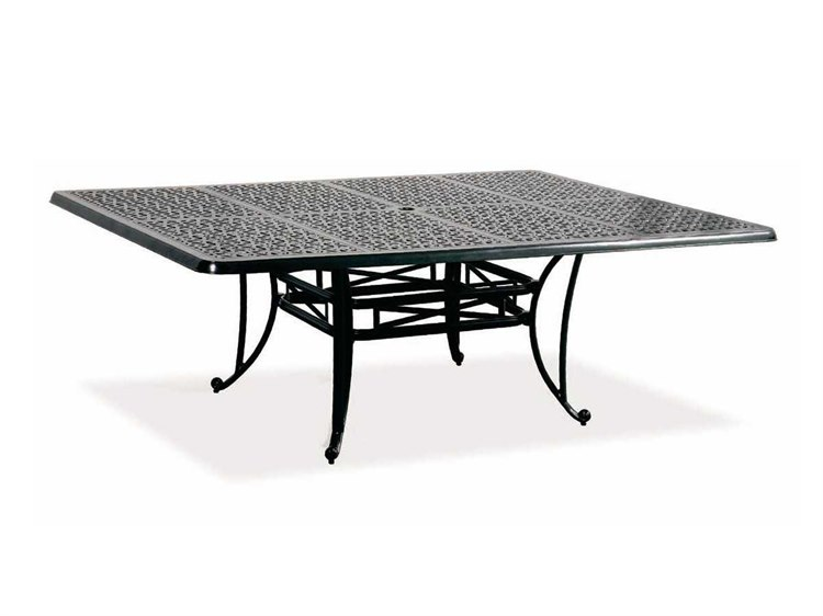 Cast Classics Opus Cast Aluminum 84 X 60 Rectangular Dining Table With  Umbrella Hole | 1968460