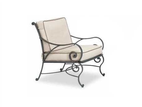 Cast Classics Sovereign Cast Aluminum Cushion Arm Lounge Chair